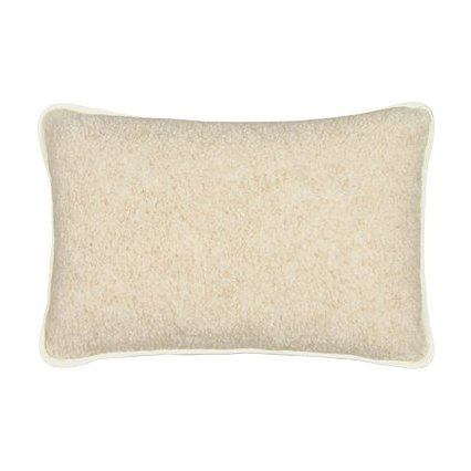 Evropské merino polštář bílý/béžový