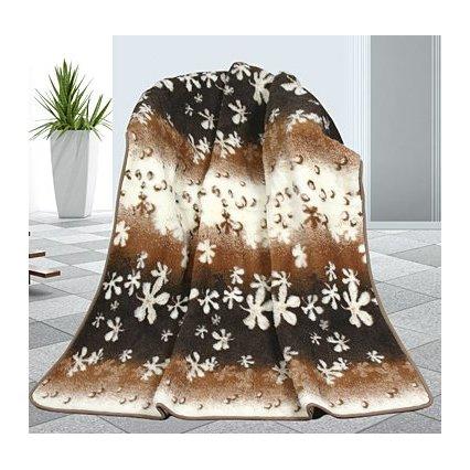 Evropské meríno deka květy 450g/m2