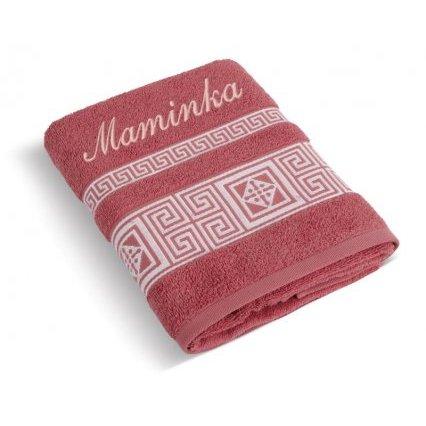 Froté ručník řecká kolekce se jménem MAMINKA