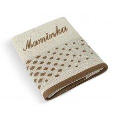 Froté ručník s výšivkou MAMINKA