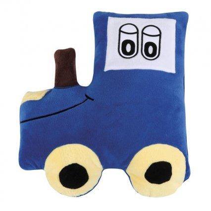 Tvarovaný polštářek traktor modrý