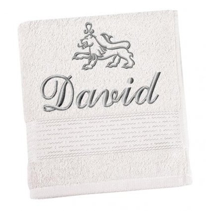 Froté ručník proužek s výšivkou  jména a znamení zvěrokruhu