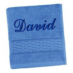 Froté ručník proužek s výšivkou jména