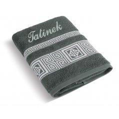 Froté ručník řecká kolekce se jménem TATÍNEK
